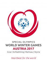 Das Special Olympics Logo zeigt 5 symbolische Menschen, die sich die Hand reichen, sich miteinander im Sinne des Special Olympics Gedanken und auch die 5 Kontinente verkörpern. Sie werden umschlossen von einem roten Herz. Das Herz steht für Werte und Tugenden, die alles Leben verbinden und das Mit- und Füreinander vorantreiben.
