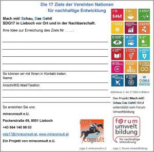 Ideen sammeln für die Erreichung der nachhaltigen Entwicklungsziele.
