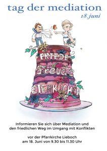 Tag der Mediation 2018 - Informationszeit in Lieboch -18. Juni - 9.30 bis 11.30 vor der Kirche