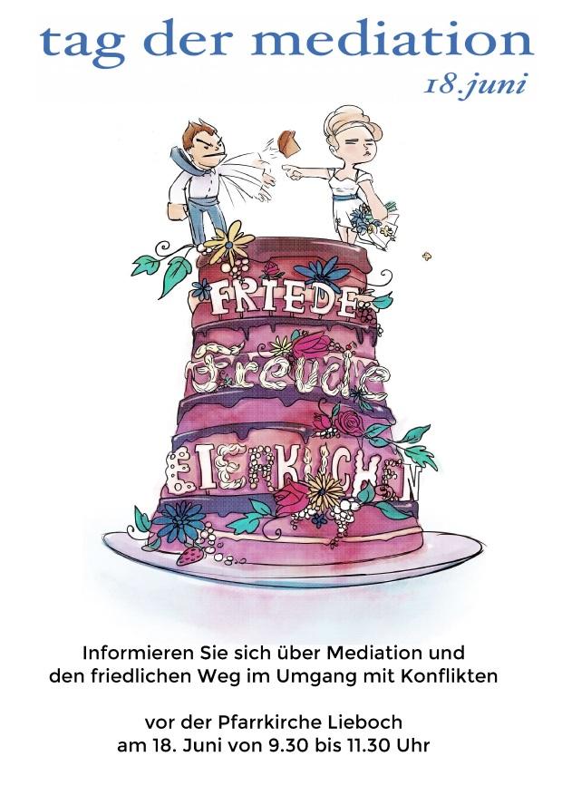 Tag der Mediation 2017 - Informationszeit in Lieboch -18. Juni - 9.30 bis 11.30 vor der Kirche