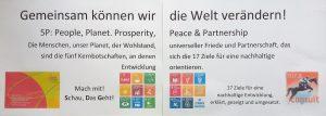Gemeinsam können wir die Welt verändern – gemeinsam an den 17 SDG arbeiten