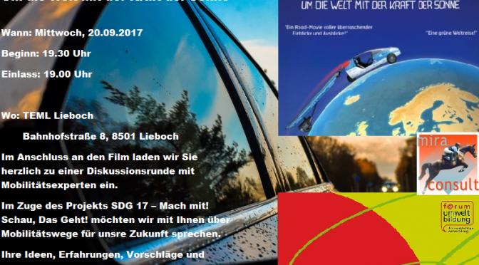 Einladung zum Filmabend in der Mobilitätswoche: SOLARTAXI - um die Welt mit der Kraft der Sonne