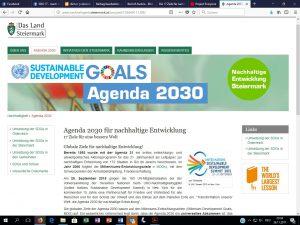 nachhaltige Steiermark - SDG - Agenda 2030