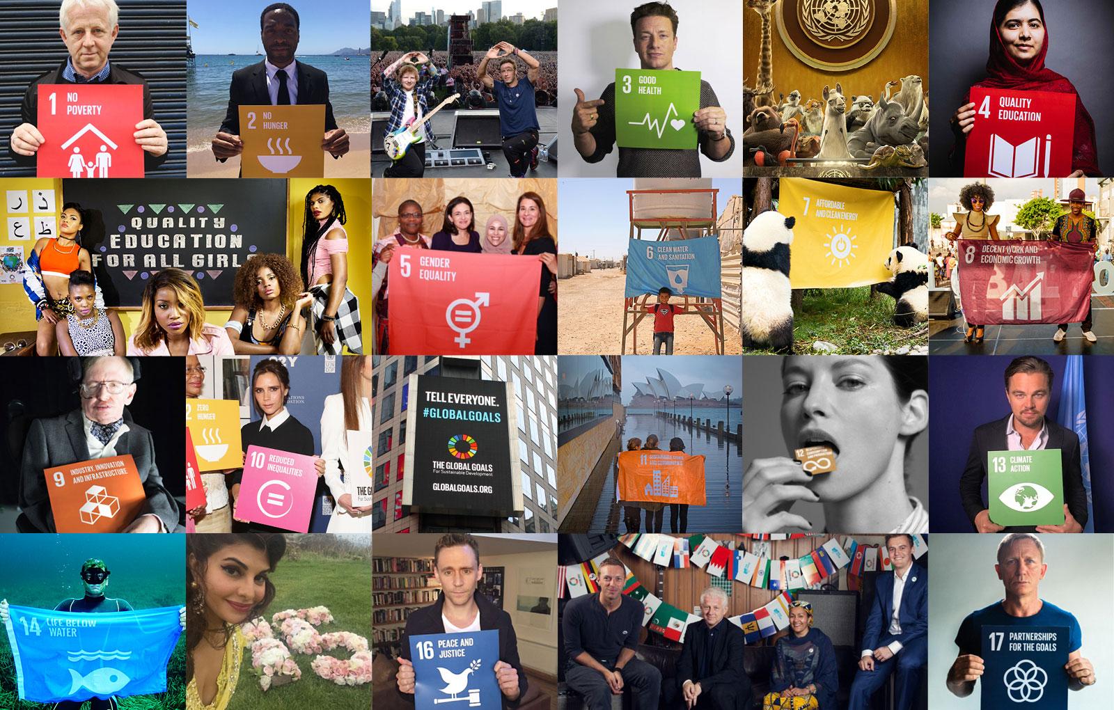 Project everyone - Bilder zu den nachhaltigen Entwicklungszielen