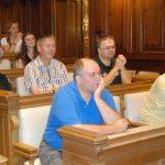 SommercampteilnehmerInnen im Grazer Stadtsenatssaal.