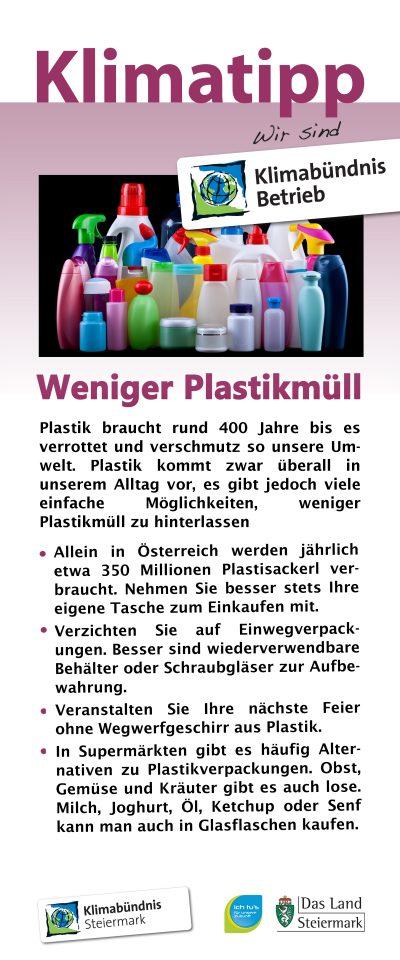 Klimatipps zur Vermeidung von Plastikmüll