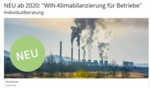 WIN Klimabilanzierung für Betriebe - Individualberatung