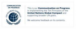 UN Global Compact - Fortschrittsbericht übermittelt